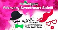 February Sweetheart Sale! Save up to $150 on Photo Booth Rentals