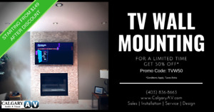 TV Wall Mounting Now 50% Off