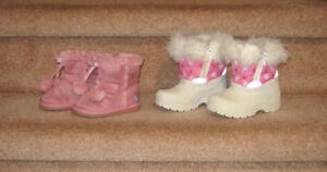 Boots & shoes - 3, 5, 5.5 / Dresses & Clothes - 6 to 18 months