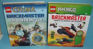 2 SETS LEGO, 1 BRICKMASTER CHIMA  et 1 BRICKMASTER NINJAGO