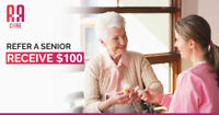 Make an Easy $100 When You Direct a Senior To Us!