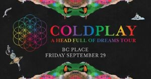 Coldplay Tickets - A Head Full of Dreams Tour