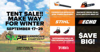 Tent Sale - Making room for Winter @ WPE Dundas