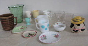 Old Dishes Measuring Cups Egg Cup Fireking Noritake Mustard Jar