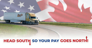 Increased Pay on ALL U.S. miles! Hiring Cross-border Drivers