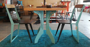Bistro table and chair set.