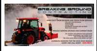 Heavy Duty Snowblowing and Plowing