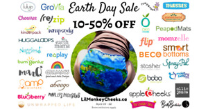 Earth Day sale at Lil' Monkey Cheeks!