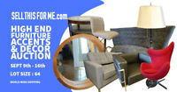 Incredible furniture and home decor auction liquidation!