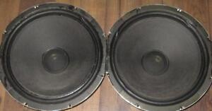 2-15-ALNICO-WOOFERS-FIBER-CLOTH-RUBBER-SURROUNDS-FROM-FISHER-XP-9C-SPEAKER