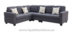 All 4 pcs Fabric Sectional Sofa Set only $798 - Deliver in GTA