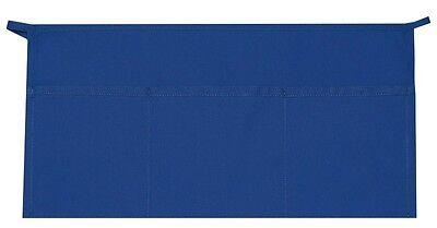 3 Pocket Waist Apron Royal Blue Waiter Waitress Bar Staff Craft Made In Usa New