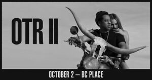 BEYONCE & JAY-Z OTR II Tour Oct. 2nd @ BC Place - FLOOR SEATS!