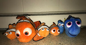 Disney Lot Finding Nemo Dory Plush Stuffed Animal 7 to 17 Inches