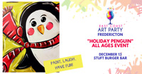 East Coast Art Party - Holiday Penguin - All Ages Event