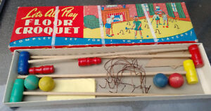 1950s Let's All Play FLOOR CROQUET ALLEN WOOD PRODUCTS Canada