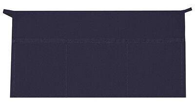 3 Pocket Waist Apron Navy Blue Waiter Waitress Bar Staff Craft Made In Usa New