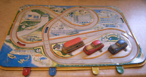 TIN ROAD CIRCUIT TOY - DBGM GERMAN MADE