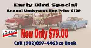 UNDERCOAT EARLY BIRD SPECIAL ONLY $79.00 REG PRICE $129