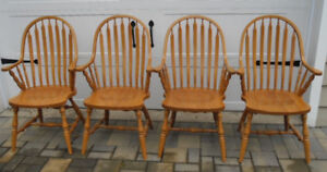 BASS River armchair dining-room set of four. Made in 1999.