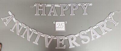Wedding Anniversary Banners ( SILVER WEDDING ANNIVERSARY WALL BANNER PARTY DECORATION CARDBOARD)