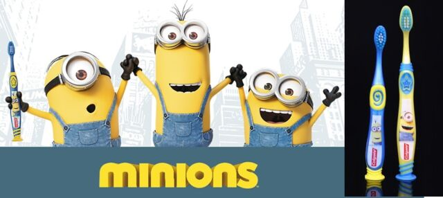 Colgate Minions Manual Toothbrushes Specially designed for children Soft