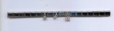 Dangle italian charm starter bracelet with Butterfly,dragonfly,flower 18 LINKS Dragonfly Italian Charm Bracelet