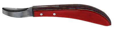 Horse Farrier Tool SS Wood Handle Equine Grooming Loop Oval Hoof Knife 98485