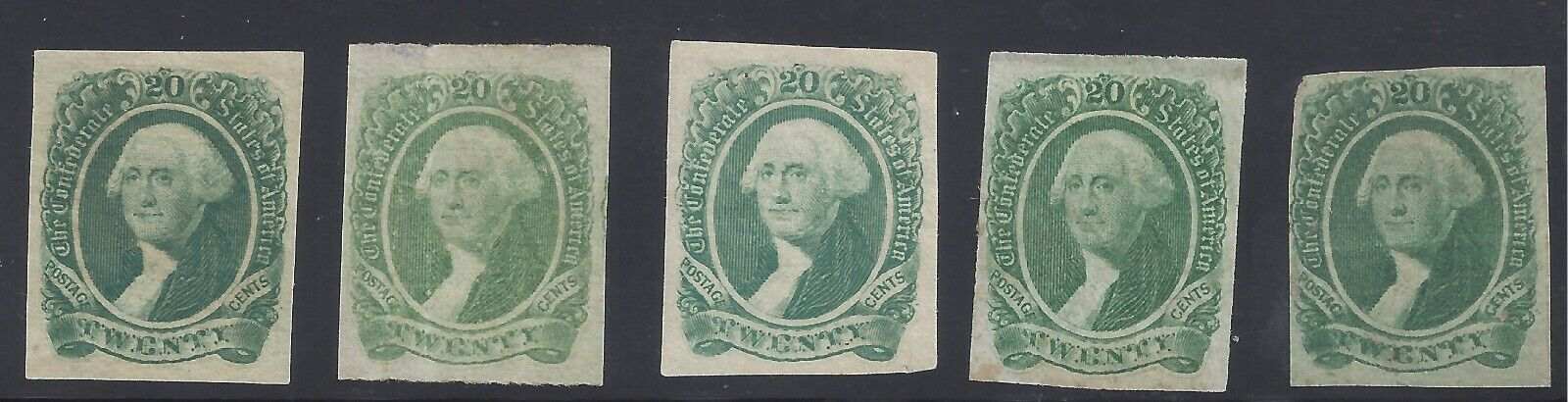 CSA 13 Group Of 5 Stamps Unused - $64.64