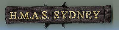 Australian WW2 Navy Cap Talley HMAS Sydney