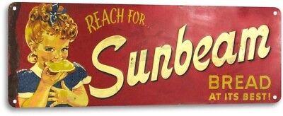 Sunbeam Bread Vintage Design Decor Kitchen Farm Cottage Store Metal Sign - Decorating Stores