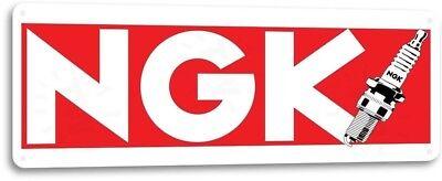 NGK Spark Plugs Logo Garage Dealer Service Clean Retro Wall Decor Metal Tin Sign