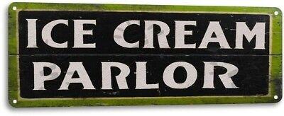 Ice Cream Parlor Shop Kitchen Cottage Rustic Decor Sign