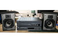 NAD C320 amp, NAD C521 CD player and MS15 speakers.