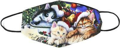 Stoffmaske Weihnachten Drei Katzen Weihnachtszeit Mundschutz Maske