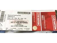 Jay Z & Beyonce Concert Ticket Wednesday 13th June