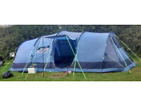 Khyam Ontario 8 Berth tent with Intex King Size Inflatable and extras
