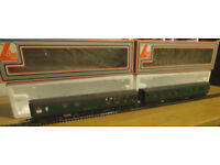Six Lima SR coaches (Lot D, one of six train set lots: see also Lots A, B, C, E and CDE)