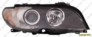 Head Lamp Passenger Side Halogen Coupe/Convertible White Turn Signal High Quality BMW 3-Series (E46) 2002-2005