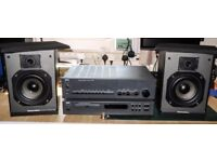 NAD amp & CD player, pair of MS speakers.