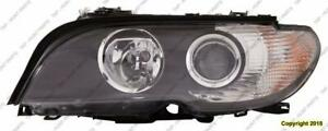 Head Light Driver Side Halogen Coupe/Convertible White Turn Signal High Quality BMW 3-Series (E46) 2002-2005