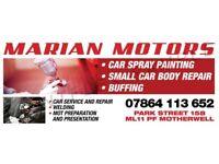 Car body repair and spray painting