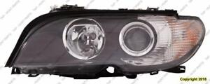 Head Lamp Driver Side Halogen Coupe/Convertible White Turn Signal High Quality BMW 3-Series (E46) 2002-2005