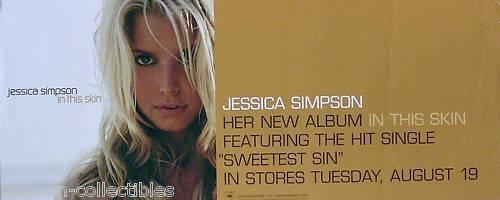 Jessica Simpson 2003 In This Skin Original Promo Poster