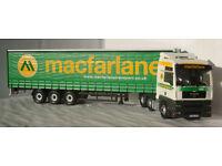 "Corgi CC13429, MAN TGA ""Macfarlane transport"", 1:50"
