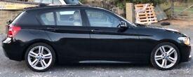 Black BMW 120d M Sport with Cashmere Beige leather interior