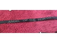 Angel of the North black leather belt
