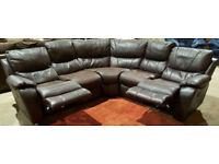 Harveys Recliner Corner Sofa Suede - Brown