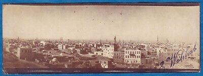 vintage original panoramic photo Cairo foto panorama Egypt Egypte ca 1910