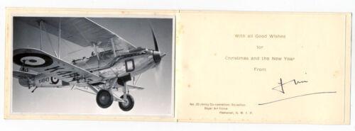 WW2 RAF Christmas Card #20 Squadron Peshawar NWFP IAF Hawker Audax photo K4843